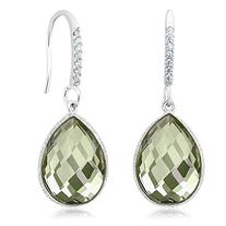 13.00 Ct Genuine Green Amethyst 16x12mm Pear Shape 925