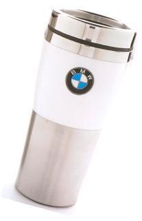 BMW Genuine Insulated Travel Mug with White Band OEM