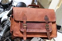 HLC Genuine Leather Messenger Satchel Camera Bag Breifcase