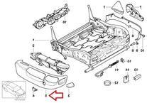 BMW Genuine Seat Outer Cover Covering Case Gray Grey E38 E39