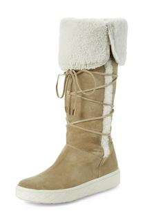 Women's Moncler 'Madeleine Stivale' Genuine Shearling Tall