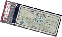 George Kelly Signed 1934 Check Psa/dna Slabbed