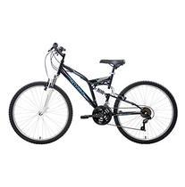 Mantis Unisex Ghost 26 Full Suspension MTB Bicycle, Black