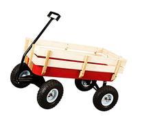GHP Home & Garden Kid's Big Foot Panel Red Wagon w 10''