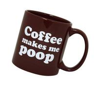 Giant Novelty Coffee Mug - Coffee makes me Poop 22 oz by