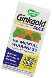 Ginkgold MAX 120mg Nature's Way 60 Tabs
