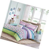 Girls Teen Kids Modern Comforter Bedding Set Pink Purple