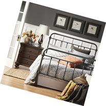 Giselle Dark Gray Graceful Lines Victorian Iron Metal Bed -