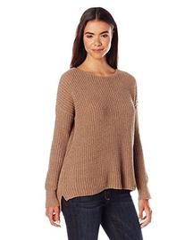 BB Dakota Women's Giselle Drop Needle Chenile Sweater, Camel