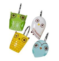 Creative Bath GIV83MULT Give a Hoot Shower Hooks, Set of 12