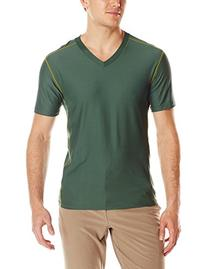 ExOfficio Men's Give-N-Go Sport Mesh V-Neck Shirt, Petrol,