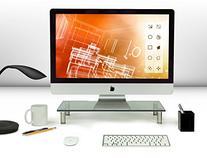 Mount-It! Computer Monitor Stand Desktop Riser, Clear