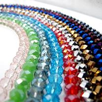 BRCBEADS Glass Crystal Beads Faceted Rondelle Shape 4x6mm