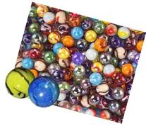 Glass Marbles Bulk, Set OF 50,  Assorted Colors, Styles, and