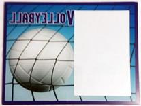 Glass Volleyball Themed Picture Frame