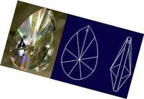 Gleader76mm Asfour Teardrop Crystal Prisms Garden, Lawn,