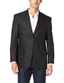 Haggar Men's Glen Plaid Sport Coat, Charcoal Heather, 50 R
