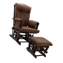 Dorel Glider Rocker and Ottoman-Espresso