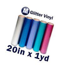 """Glitter Heat Transfer Vinyl 20"""" x Yard"""