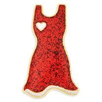 PinMart's Glitter Red Dress American Heart Month Enamel
