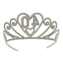 Glittered 40 Tiara Party Accessory