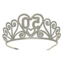 Glittered 50 Tiara Party Accessory