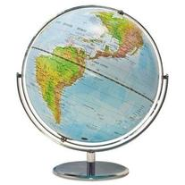 ADVANTUS Physical and Political 12-Inch World Globe, Silver