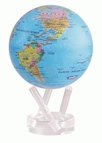 "6"" Blue with Political Map MOVA Globe"
