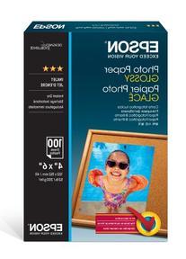 "Epson Photo Paper Glossy - Borderless - S042038, 4"" x 6"