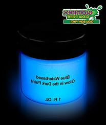 Glominex Glow AD386 in the Dark Body Paint 1oz Jar - Blue