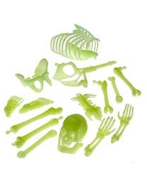 Glow in the Dark Skeleton Box of Bones Action Figure