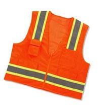 GloWear 8248Z Class-2 Two-Tone Surveyors Vest, Orange, Small
