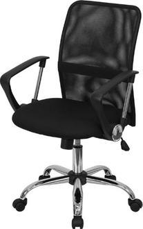 Flash Furniture GO-6057-GG Mid-Back Black Mesh Computer