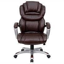Flash Furniture GO-901-BN-GG High Back Brown Leather