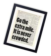 Go The Extra Mile Typography Upcycled Vintage Dictionary Art