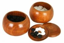 Go Game YUNZI Stones And Solid Wood Holder Bowls Set