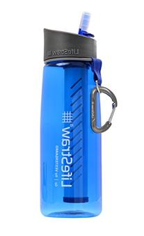 LifeStraw Go Water Bottle 1-Stage with Integrated 1000-Liter LifeStraw Filter, Blue