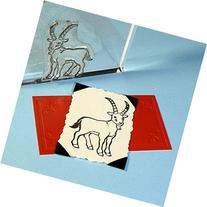 "Goat Stamp, clear polymer cling 2""x1.5"", includes storage"