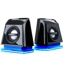 GOgroove 2MX LED Computer Speakers with Powered Subwoofer,