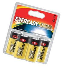 Eveready Gold A93BP-4 C Alkaline Battery 4 per Package