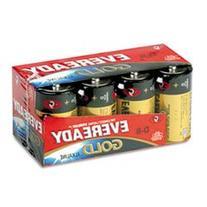 Gold Alkaline Batteries  D  8 Batteries/Pack