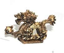 NEW Gold Chinese Feng Shui Dragon Figurine Statue for Luck