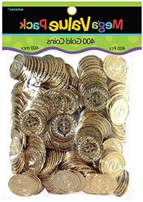 Novelty Amscan Plastic Gold Coins Value Pack - 400 Ct