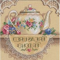 Gold Collection Petite Treasured Friend Teapot Counted Cros-
