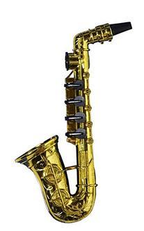 Forum Novelties Gold Saxophone Party Kazoo Play Musical Instrument