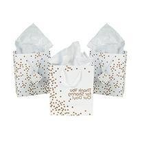 Medium Gold Wedding Dot Gift Bags 1 Dozen