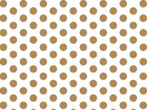 Gold and White Polka Dots Tissue Paper 20 Inch X 30 Inch -