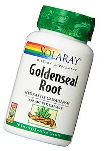 Solaray Goldenseal Root Capsules, 550 mg, 50 Count
