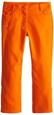 Puma Golf Boys Junior 5 Pocket Pant, Vibrant Orange, Small
