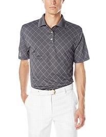 PGA TOUR Men's Golf Argyle Jacquard Short Sleeve Polo Shirt